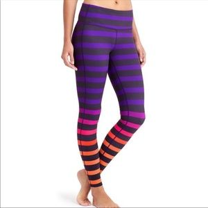 Athleta High Rise Bold Stripe Chaturanga Pant M